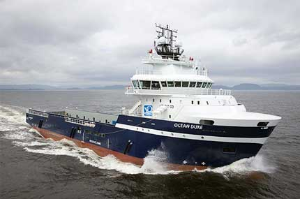 vessel for seismic operations Ocean Duke.